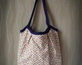 Sale - Lightweight shopping or beach bag with Russian doll print