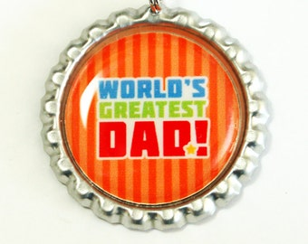 Worlds Greatest Dad, Bookmark for Dad, bookmark, Gift for him, book mark, Shepherd Hook, Fathers Day Gift, orange (2564)