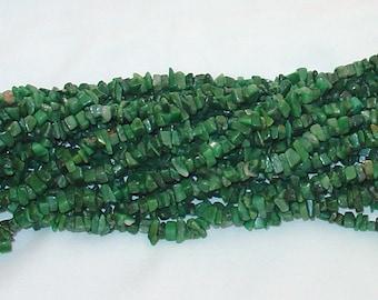 "Africa Jade Chip Gemstone Bead - 34"" Strand"