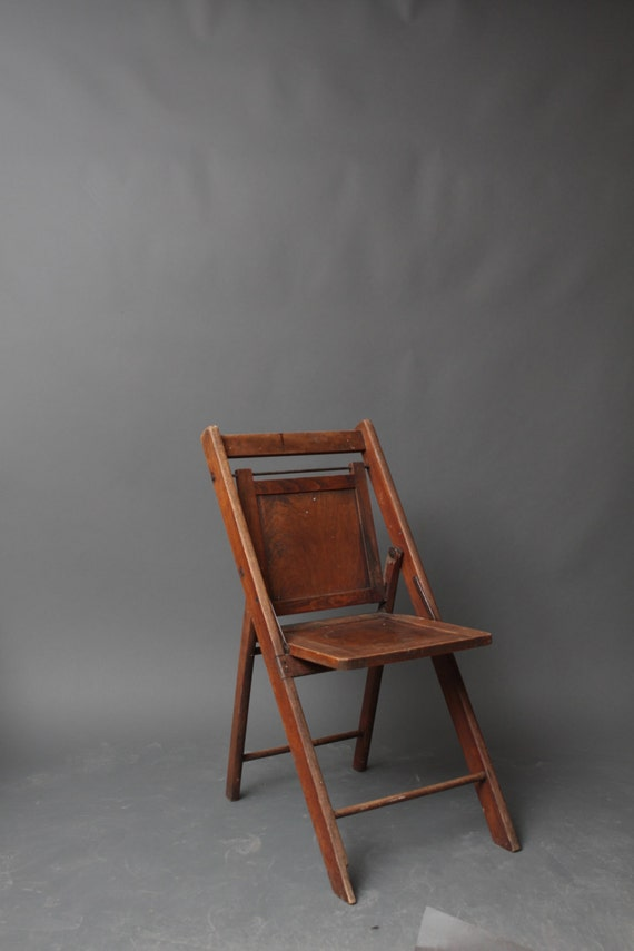 Vintage Wooden Side Chair Solid Antique Fold Out by thedriftingfox