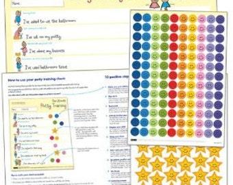 Potty Training Chart - The Ultimate Potty Training Reward Chart: - Award Winning Parenting Tool  for Toilet Training