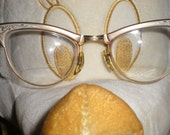 CAT EYE Eyeglasses American Optical Vintage Womens Ladies Hip Rockabilly Trendy 1950s 1960s    .A.