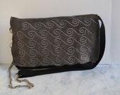 Messenger Bag Leather - Leather Messenger Bag - Hand Embroidered