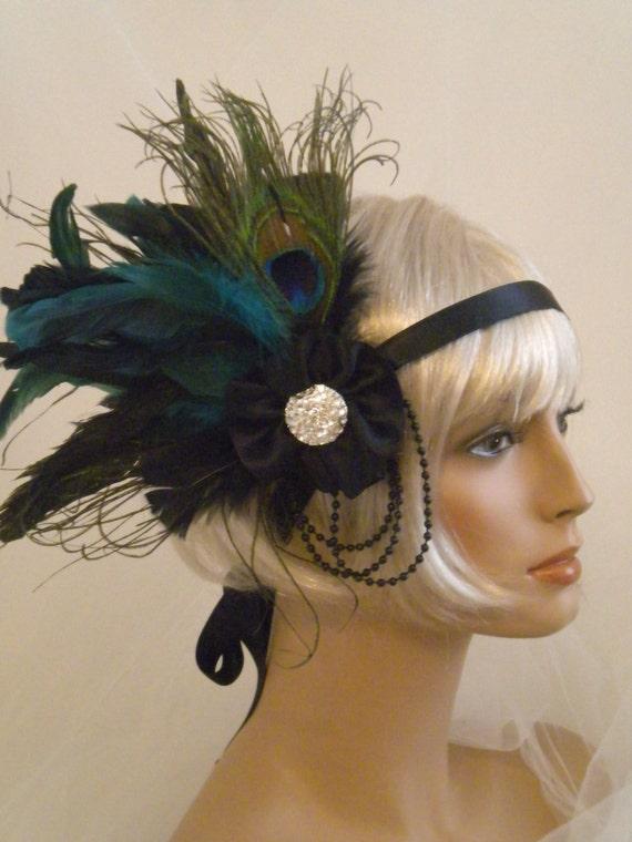 Flapper Headpiece uk Flapper Headpiece 1920's