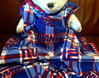 New York Giants Football Fleece Sports Baby Blanket