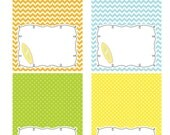 INSTANT DOWNLOAD -- Surf's Up Printable Tent Cards