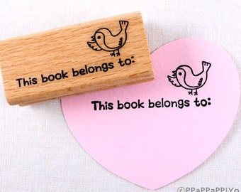 30% OFF SALE This book belongs to 02 Rubber Stamp