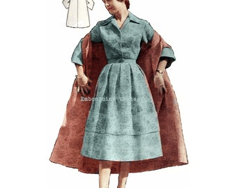 Vintage Sewing Pattern 1956 Dress Suit Jacket PDF Plus Size (or any size)  - Pattern No 12 Rene