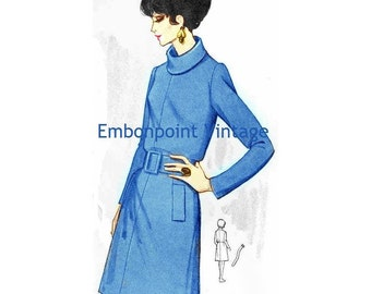 Plus Size (or any size) Vintage 1969 Dress Pattern - PDF - Pattern No 83 Kellie