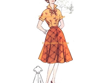 Plus Size (or any size) Vintage 1950s Skirt Pattern - PDF - Pattern No 55b Cathy Skirt