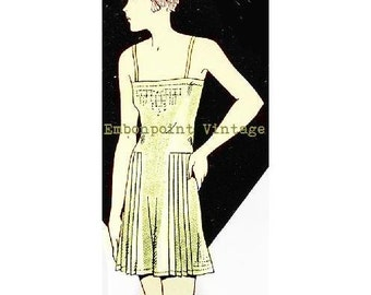Plus Size (or any size) 1934 Vintage Combination Slip Sewing Pattern - PDF - Pattern No 14 Adele