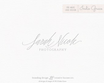 Custom PreDesigned / Calligraphy style logo for photography boutique or etsy shop