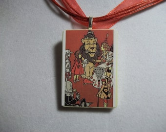 Choice of Wizard of Oz, Ozma, Dorothy, Glinda, flying monkeys handcrafted Game Piece Pendant Necklace
