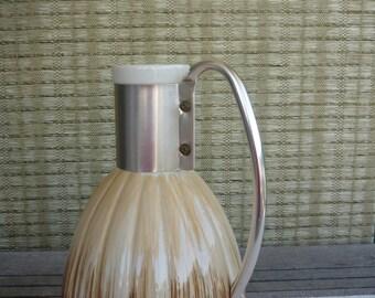 Vintage Ceramic Pitcher, Mid Century Modern Carafe, 50's Kitchen, C. Miller