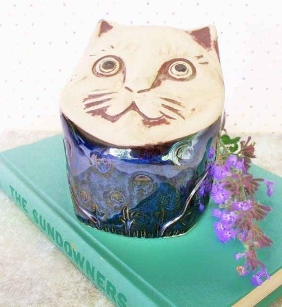 Vintage Ceramic Cat bank by Paul Marshall made in Japan Home Decor Children Cat Lovers Great Gift