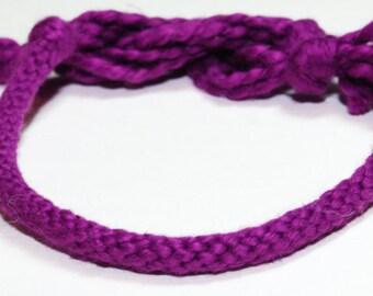 Plum Purple Bracelet Kumihimo Fiber Cotton Purple Casual Bracelet