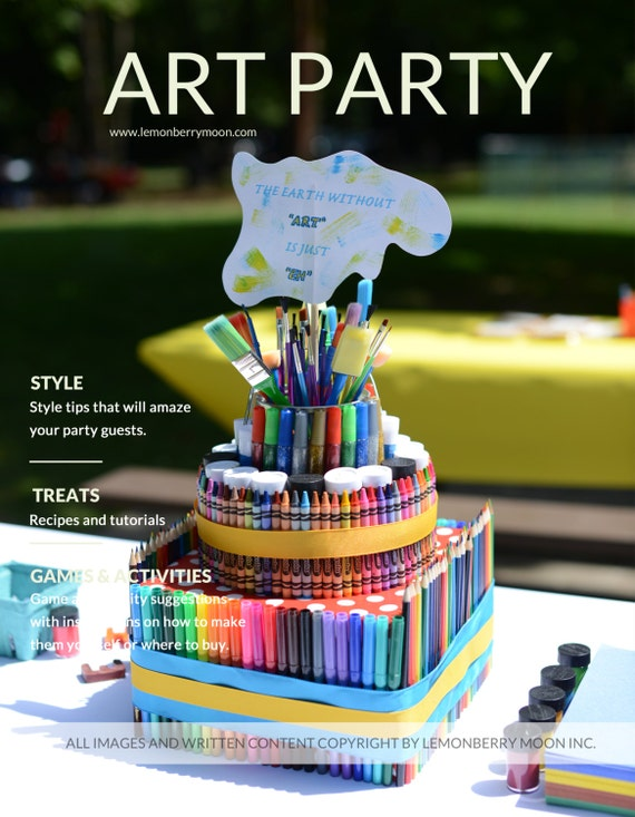 Items similar to party plan kids rainbow art theme for Crafts for 10 year old birthday party