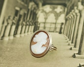 Reserved for Melissa-  Antique Cameo Ring - 10K Yellow Gold