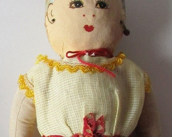 c.1960 Thailand, Vintage Hand Painted, Costume Doll, Lovely Condition, All Original Clothing