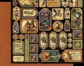 """Graphic 45 """"Halloween in Wonderland"""" Tag Sheet"""