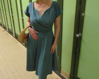 Mercedes vintage 1950's reproduction custom made dress.