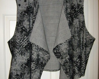 Size 5X  or 32  Edgy Vest & Pants
