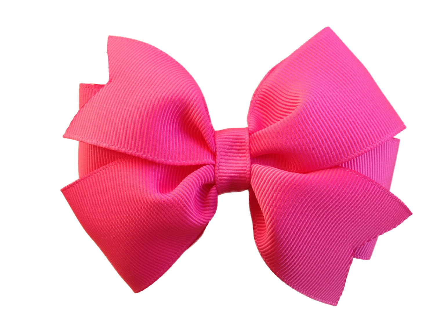 Camelia Rose Hair Bow Rose Pink Bow 4 Inch Hair Bow