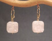 Ivory druzy quartz earrings Modglam 147