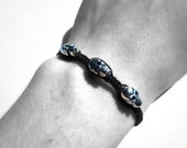Gothic Skull Bracelet: Black Hemp Adjustable Unisex