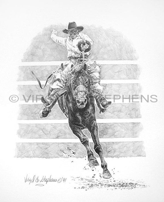 saddle bronc riding coloring pages - photo#29
