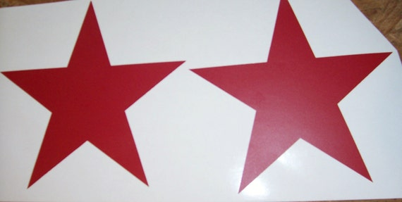 Red Star Wall Decor : Dark red vinyl star decals wall