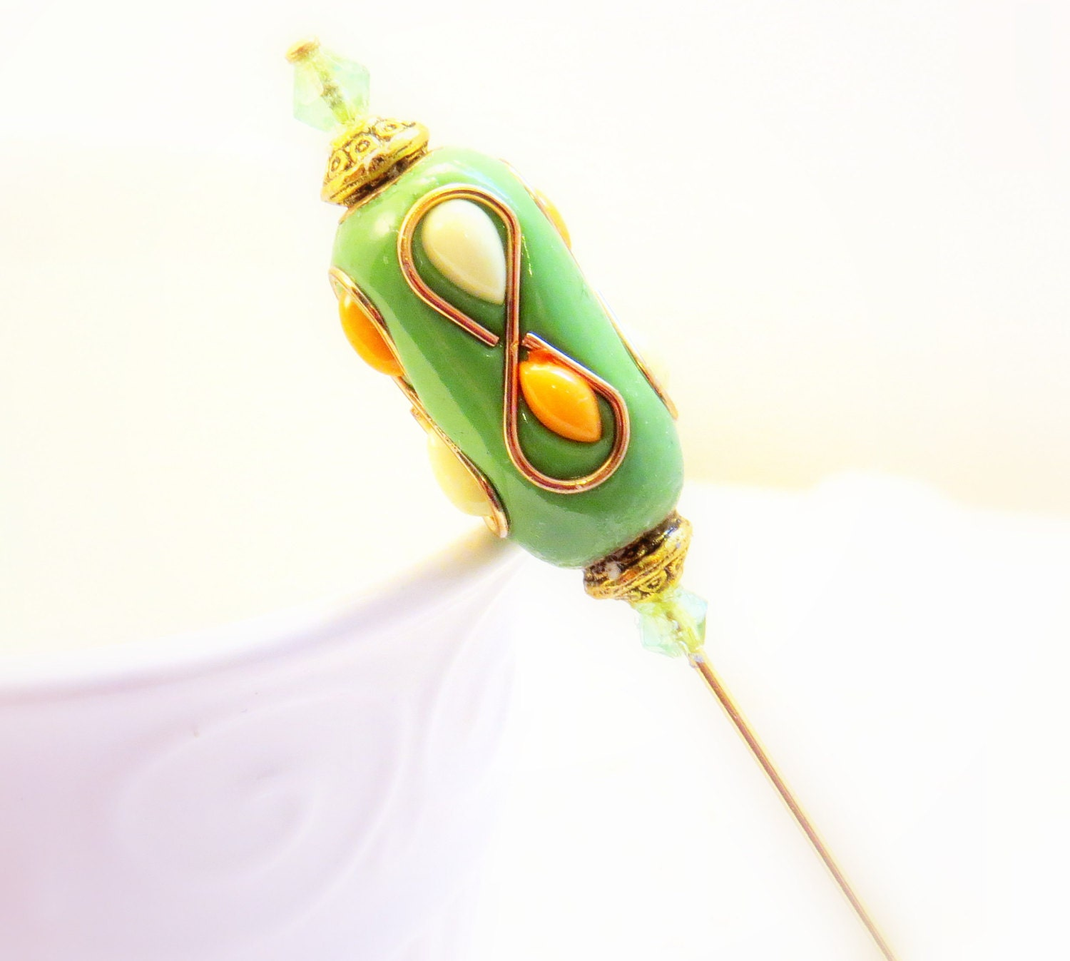womens accessories beaded hat pin by