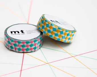 Square in Pink and Yellow MT masking tape
