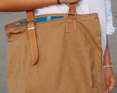 EMMA Bag tarpaulin and 100% natural leather