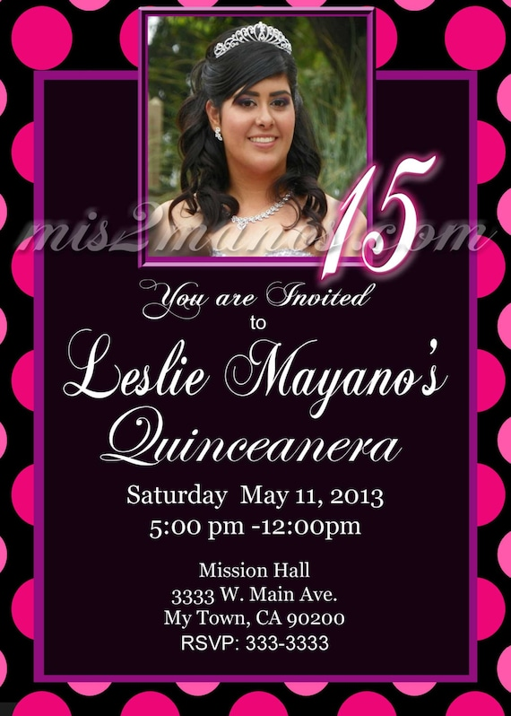 Invitations For Quinceaneras In Spanish is perfect invitations template