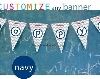 INSTANT DOWNLOAD navy party, navy baby shower, party printables, baby shower banner, birthday banner, birthday, party printable, boy shower