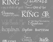 LDS Mormon Child of God Baptism Photoshop Brushes Word Art / Overlays for Photographers / chalk/ Clip Art / Stamps / Digital Scrapbooking