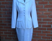 Suit Women's Dress Suit White Jacket and Skirt