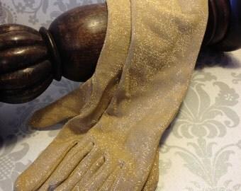 Gloves Gold Glitter Gloves Long Gloves