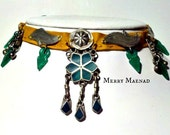 "OOAK Tribal choker necklace with malachite, Turkoman amulets, Kuchi pendants, and Talhakimt - ""Ceres"" - Ethnic jewelry"