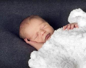 "Newborn Photography Prop Newborn Photo Prop Newborn Baby Blanket Baby Girl Baby Boy 17"" x 17"" Snow White Baby Blanket Terry Cloth Layering"