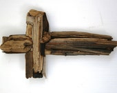 Handmade Driftwood Cross, Rustic Beach Home Decor (Made to Order)