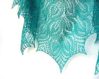Emerald Green Summer Linen shawl, Linen wrap - woman summer accessory