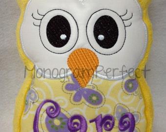 Personalized Stuffed Owl Reading Buddy Pillow, Soft Toy