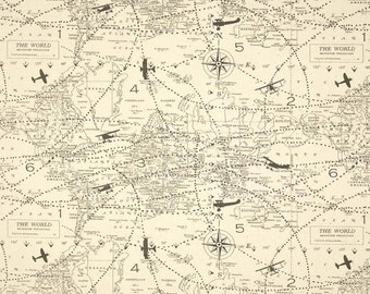 Popular items for airplane map on Etsy