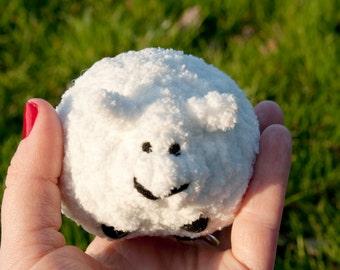Large Sheep stuffed animal, soft sculpture