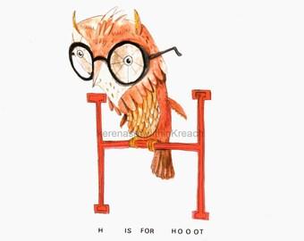 owl / print / withinkreach