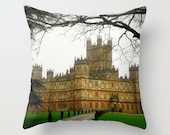 Downton Abbey Decorative Pillow. Home Decor.  Bedroom Decor. Living Room Decoration. Housewares. Brown. Green. Pillow case cover