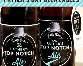 PRINTABLE Fathers Day Beer Bottle labels