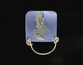 Handmade Silver Mermaid Lavender Purple Magnetic Eyeglass Holder